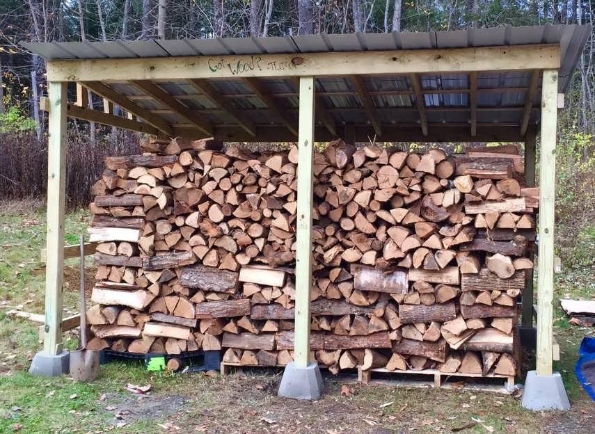 Поленница для дров своими руками на даче