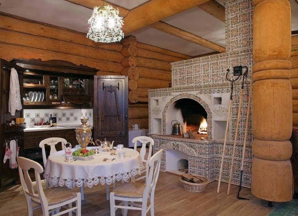 Русская печь с камином и лежанкой