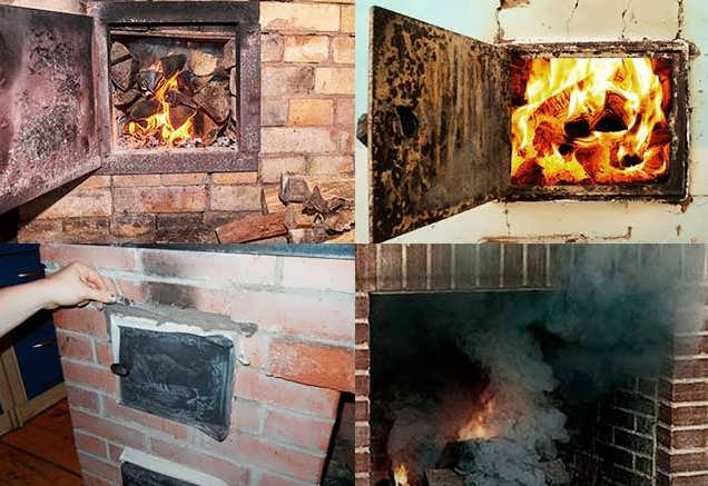 почему печка дымит