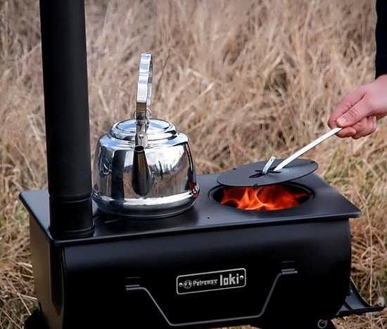 печь в палатку