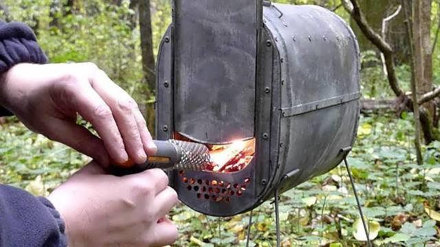 печка для палатки на дровах
