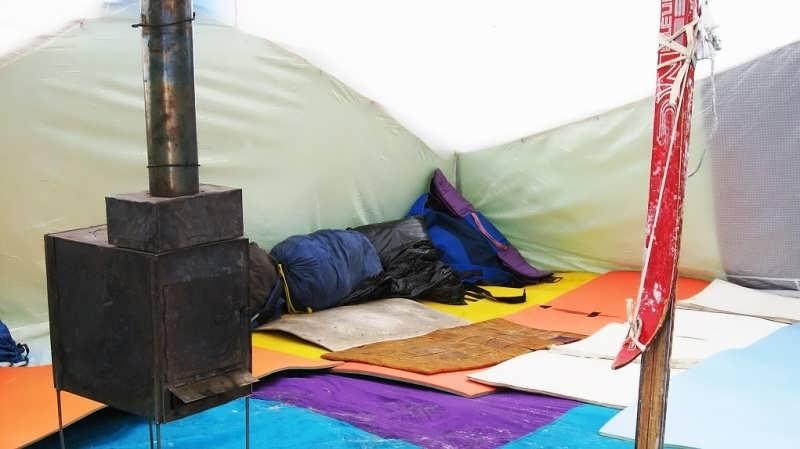 печка в палатку