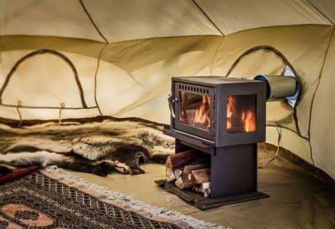 печка для палатки зимней