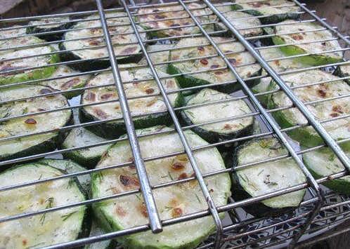 как запечь овощи на мангале