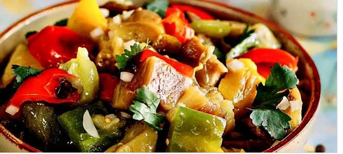 овощи на решетке на мангале